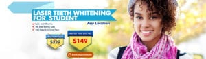 Laser Teeth Whitening For Student - Any Location - $199 $149 (1)